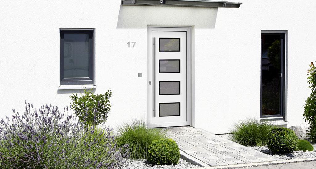 Weiße Haustüren haustüren in holz und alu schreinerei gruler