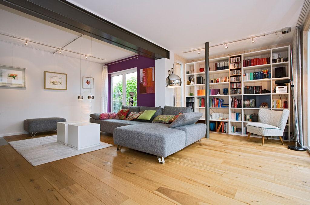 Wohnzimmer Parkett Dielenboden Im Hausanbau Von Schreinerei Gruler In Trossingen Rottweil