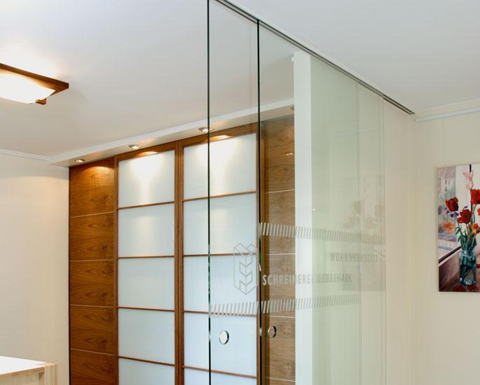 Schiebetüren als Zimmertür und Raumteiler - Schreinerei Gruler in ...
