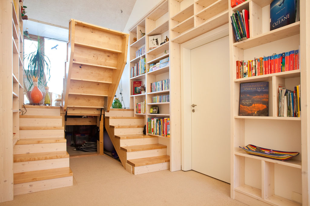 Wundervoll Stauraum Unter Der Treppe Im Wohnzimmer Aus Massivholz Birke Vom Schreiner  Franz Gruler In Trossingen Rottweil